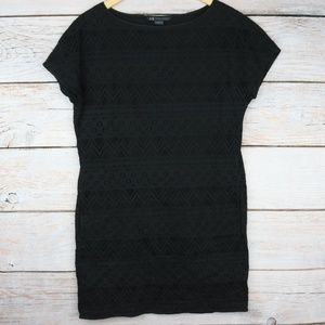 Armani Exchange Black Lace Shirt Dress / Top